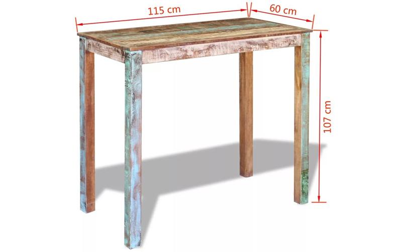 Tamaño mesa recuperada barata