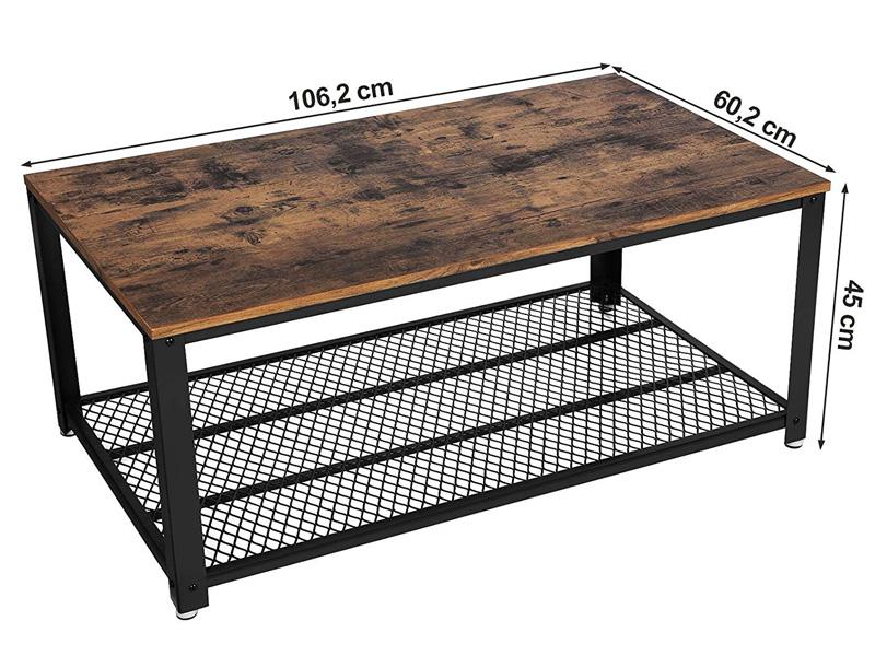 tamaños y medidas de la mesa vasagle