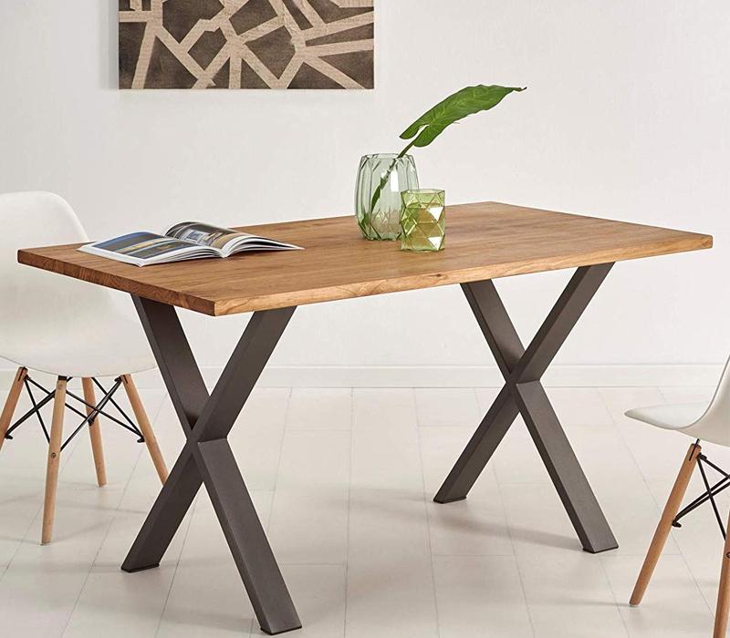 mesa de madera estilo industrial barata