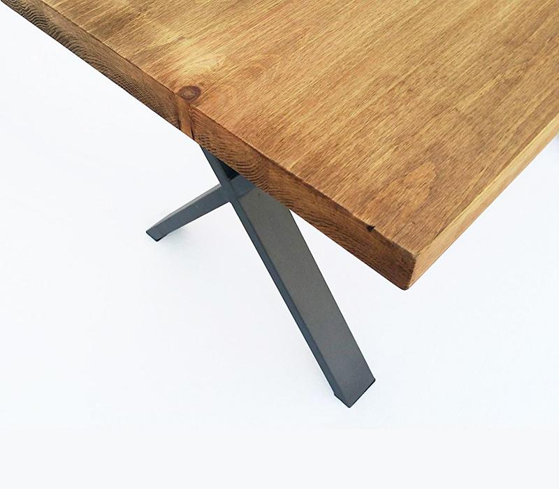 mesa de madera de roble envejecido economica