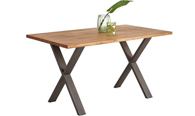 mesa de madera industrial barata