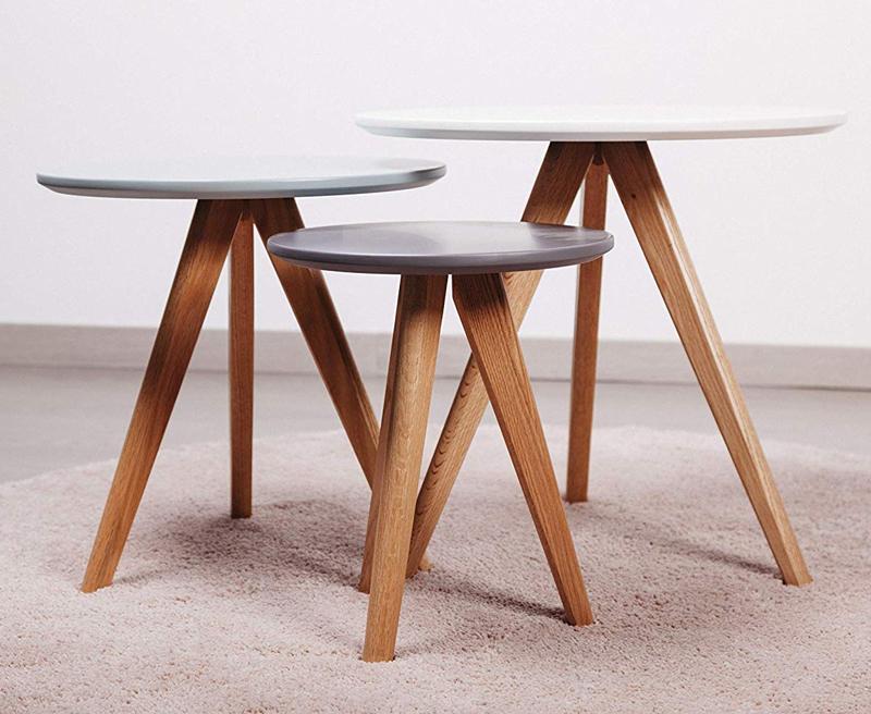Conjunto mesas nordicas