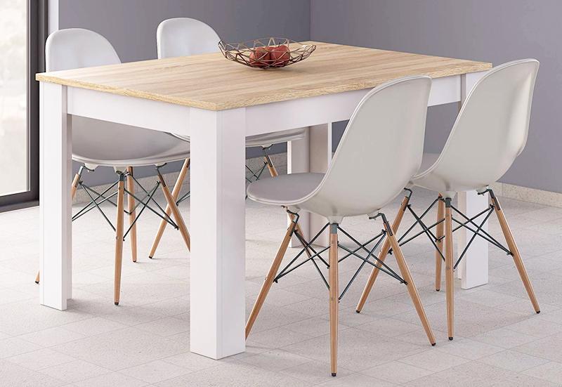 conjunto de mesas y sillas de madera para cocina