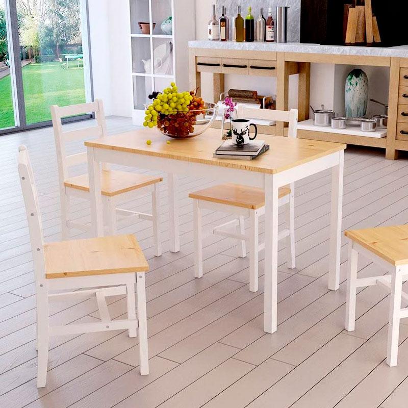 mesas fabricadas en pino