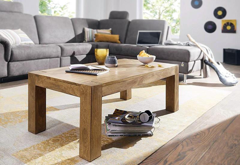 mesa de centro en madera de acacia economica