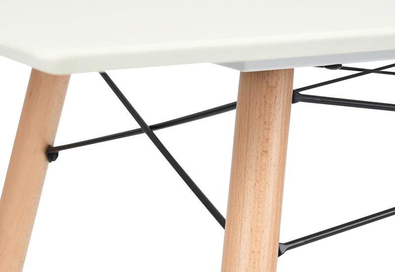 mesa de madera en haya acero y mdm