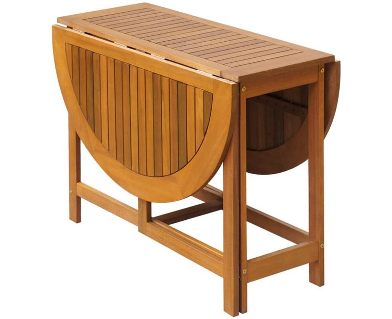 mesa redonda plegable en madera