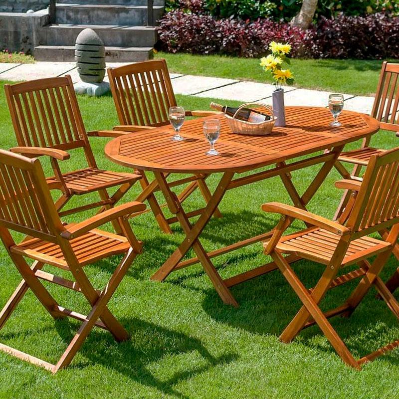 mesas fabricadas en acacia