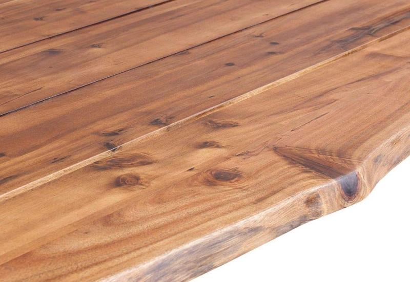 mesa madera acacia con acabado en aceite