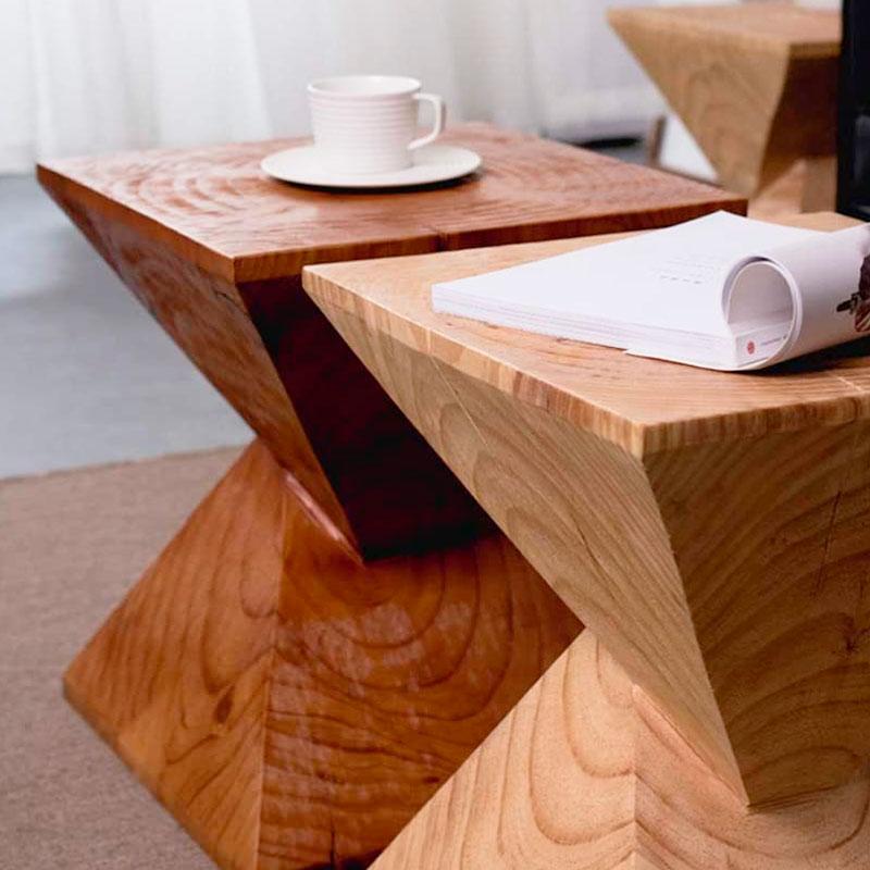 mesas de madera vanguardistas