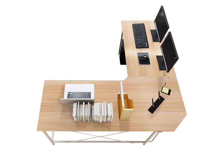mesa de madera para ordenador para esquina en forma de L