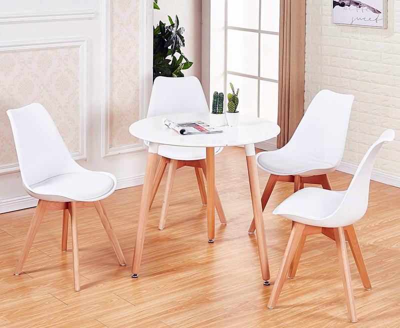mesa reonda madera estilo escandinavo