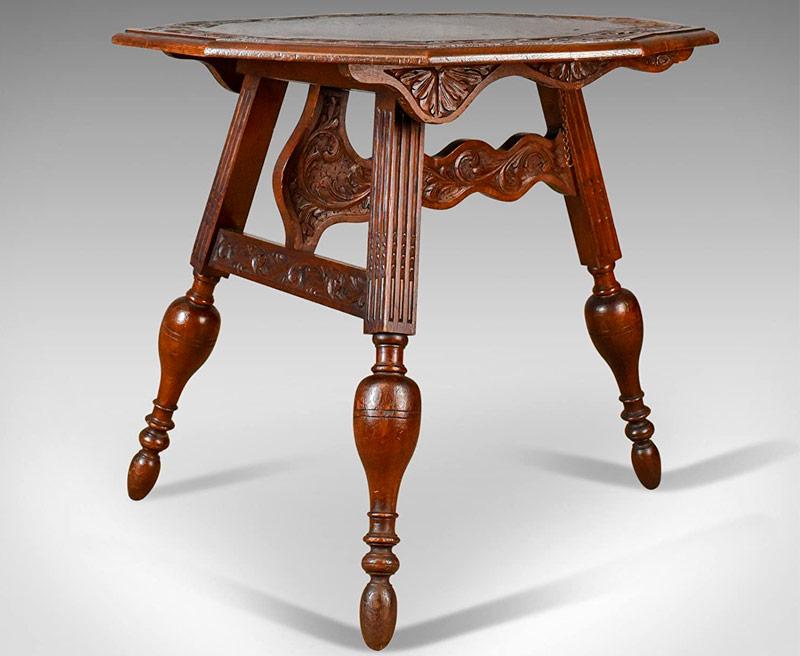 mesa de madera antigua estilo ingles de la marca london fine antiques